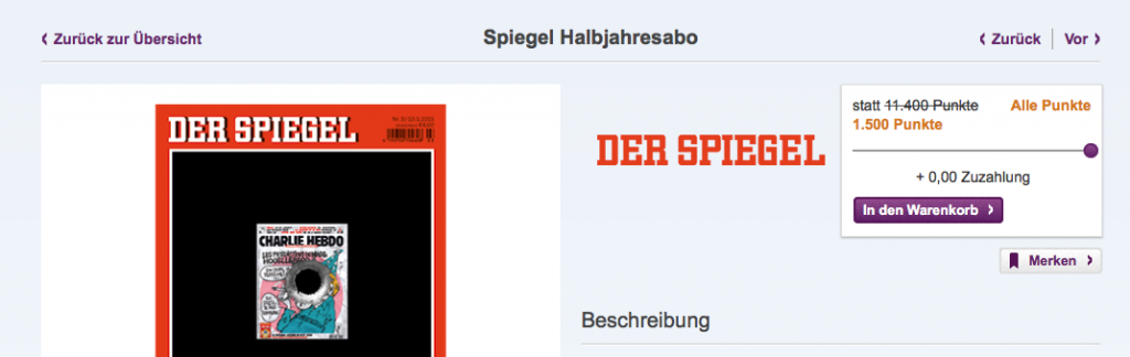 DeutschlandCard SPIEGEL-Abo